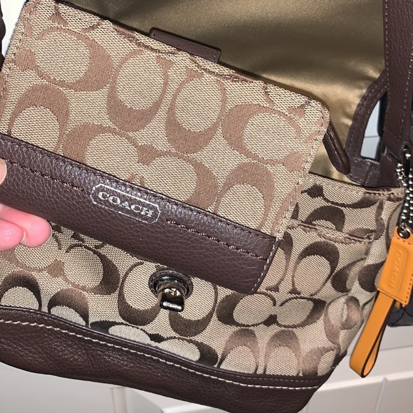 Coach Handbags - Brown Coach Small Crossbody
